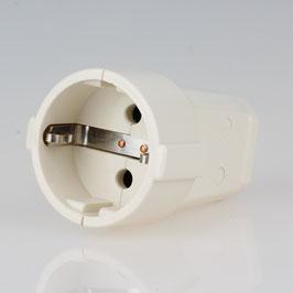 Schutzkontakt-Kupplung weiß 250V/16A Bakelit Optik