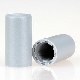 Abschlussknopf 13x25mm Kunststoff grau M10x1 Innengewinde