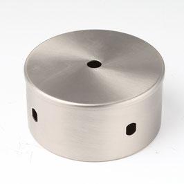 Verteiler 100x50mm edelstahloptik für Lampenfassung oder Flexschlauch