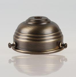 Lampenschirm Glashalter 70x39mm Antik Fume für E14 und E27 Fassung