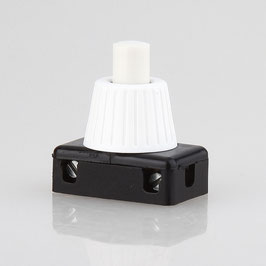 Lampen Einbauschalter Einbau-Druckschalter weiss 250V/2A 8 mm Achse 1-polig