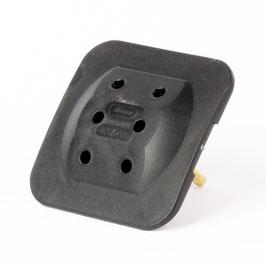 Kopp Schutzkontaktstecker Adapter 3-fach, superflach, schwarz