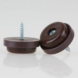 Möbelstopper 28 mm Kunststoff braun mit Schraube