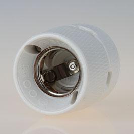 E27 Porzellan Keramik Anbau Aufbau-Fassung 4/250V glasiert weiß
