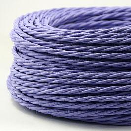 Textilkabel Stoffkabel lila 3-adrig 3x0,75 gedreht verseilt einzeln umflochten