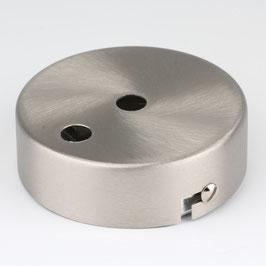 Lampen Metall Baldachin 80x25mm edelstahloptik für 2 Lampenpendel ohne Zugentlaster