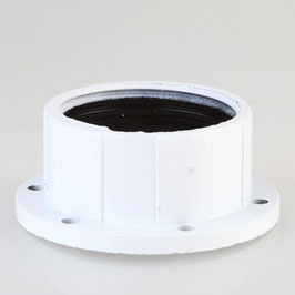 E27 Bakelit Schraubring weiß lackiert 58x24 mm
