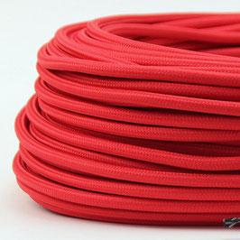 Textilkabel Stoffkabel rot 3-adrig 3x0,75 Schlauchleitung 3G 0,75 H03VV-F