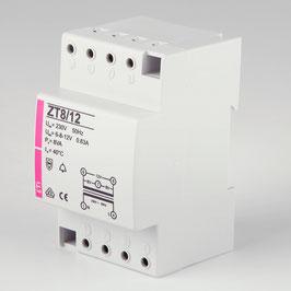 Klingeltrafo für Aufputz und Reiheneinbau 6-8-12V 230V ETI