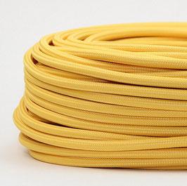 Textilkabel Stoffkabel gelb 3-adrig 3x0,75 Schlauchleitung 3G 0,75 H03VV-F