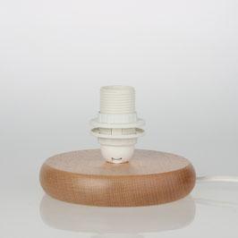 Lampen Holzsockel 120 mm E14 Fassung mit Schraubringe und Anschlussleitung
