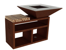Vulcanus Pro910 Masterchef Barbecue a legna + coperchio in acciaio inox gratuito