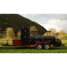 "Joes BBQ Smoker 30"" Etended Catering Smoker Trailer"