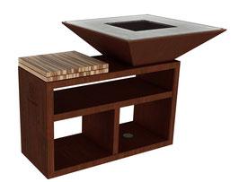 Vulcanus Pro730 Masterchef Barbecue a legna, + coperchio in acciaio inox gratuito