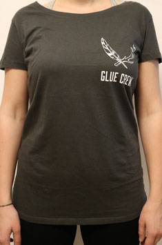 "T-Shirt ""Glue Crew"" charcoal (female)"