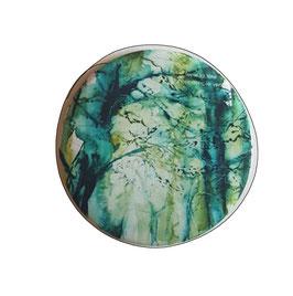 magnet - arbres bleus et verts