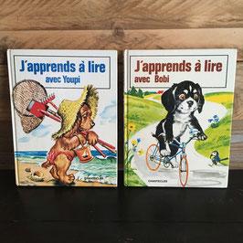 """Vintage. 2 livres """"j'apprends à lire avec..."""" pour enfant."""