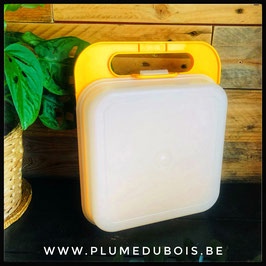 Vintage Tupperware boite à tartine valisette jaune