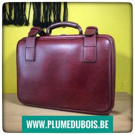 Vintage petite valise en skaï