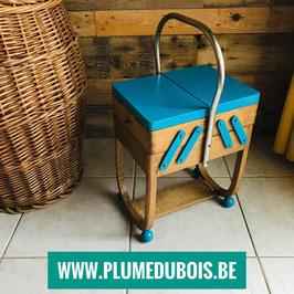 Création PlumeDubois. Travailleuse Cousette Torck Azurette