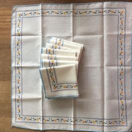 Vintage, lot de 8 mouchoirs en coton, zéro déchet