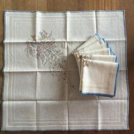 Vintage, lot de 7 mouchoirs en coton, zéro déchet
