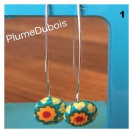 """PlumeDubois Création. Boucles d'oreilles """"bouton""""."""