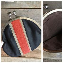 Vintage, bourse, porte-monnaie en cuir