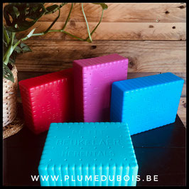 """Vintage """"Petit Beukelaer"""" une boite à tartine en forme de biscuit (différentes couleurs disponibles)"""