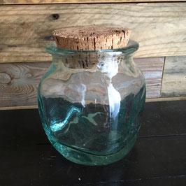 Vintage. Pot en verre avec couvercle en liège