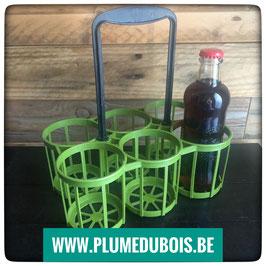 Vintage, ZD, porte PETITES bouteilles, vert