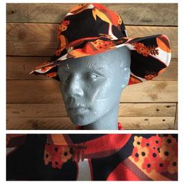Vintage, chapeau de soleil en tissu