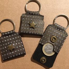 PlumeDubois Création. Porte clés, porte jeton caddie