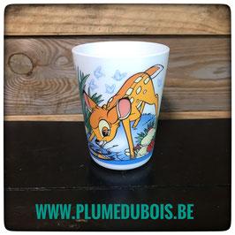 Disney. Vintage. Petit verre ceramique style arcopale