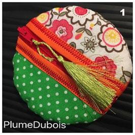 """PlumeDubois Création. Porte monnaie """"Boule""""."""