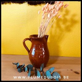 Cruche carafe pot en terre cuite, style Boho