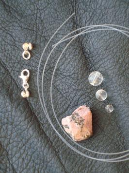 Kreativ Set Halskette / Armband Rhodonit