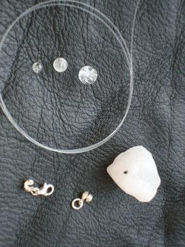 Kreativ Set Halskette / Armband Quarz, Bergkristall