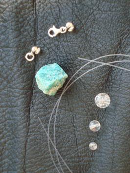 Kreativ Set Halskette / Armband Amazonit, Bergkristall