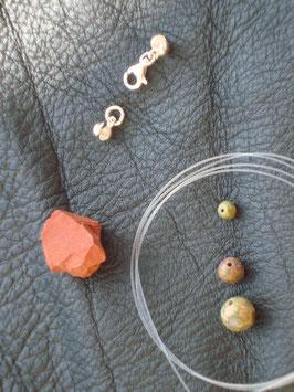 Kreativ Set Halskette / Armband Jaspis, Unakit