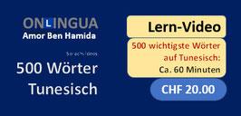 Die wichtigsten 500 tunesischen Wörter