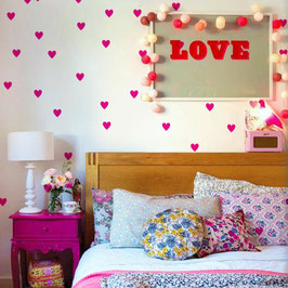 Love Hearts Wall Decal- Wall Sticker