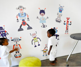 Build a Bot' Wall Decal-Wall Sticker