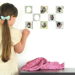 Vintage Photo Frames Wall Decal-Wall Sticker