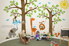 Wondrous Woodland Tree Wall Decal-Wall Sticker