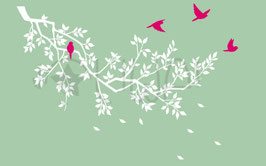 Spring Branch Wall Decal-Wall Sticker