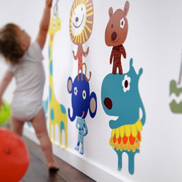 Jiving Jungle Pals Wall Decal-Wall Sticker