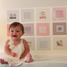 Baby Squares in Pinks (Photo Frames) Wall Decal-Wall Sticker