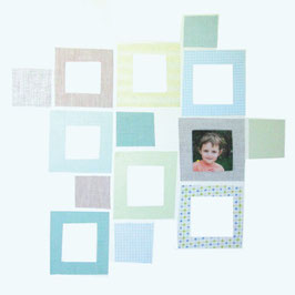 Baby Squares in Blues/Greens (Photo Frames) Wall Decal-Wall Sticker
