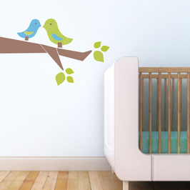 Love Birds Wall Decal-Wall Sticker